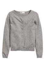 Fine-knit cardigan - Grey - Kids | H&M CN 2